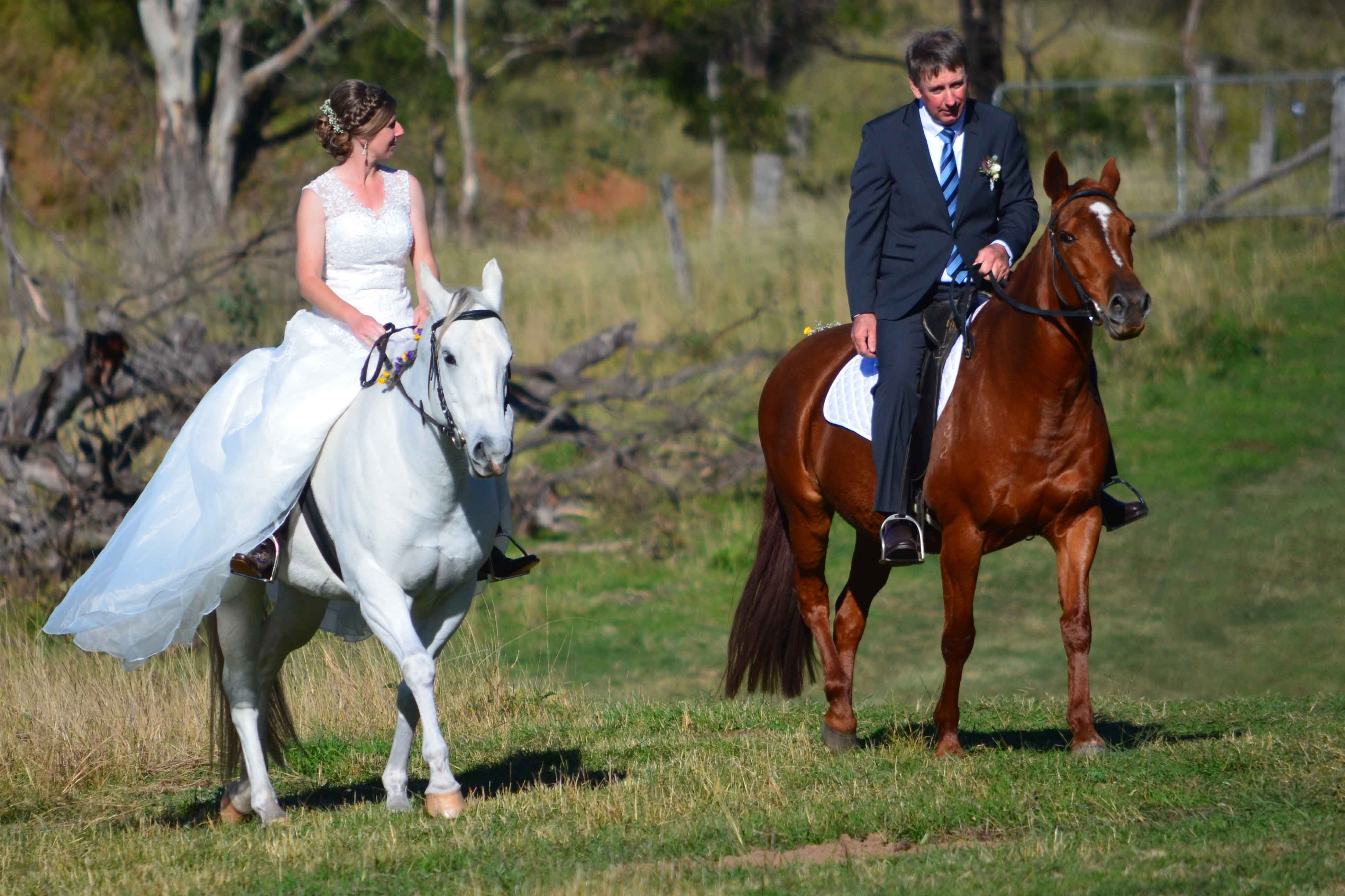 Jess And Greg S Country Horseback Wedding Chapman Valley